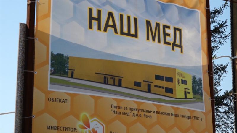 Krajem godine  prve isporuke meda iz Rače