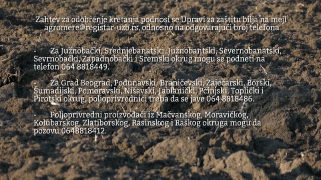 Poljski radovi u vreme zabrane kretanja samo uz zahtev